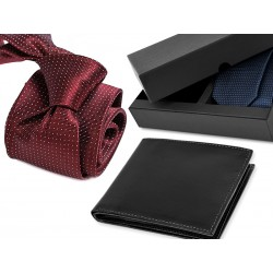 TIE CK002 + LEATHER WALLET