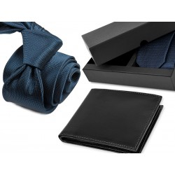 TIE CT005 + LEATHER WALLET