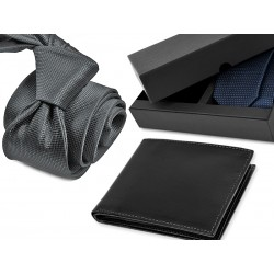 TIE CR055 + LEATHER WALLET