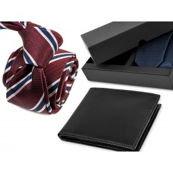 TIE DA003 + LEATHER WALLET