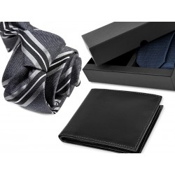 TIE DA010 + LEATHER WALLET