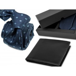 TIE DA017 + LEATHER WALLET