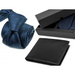TIE DA020 + LEATHER WALLET