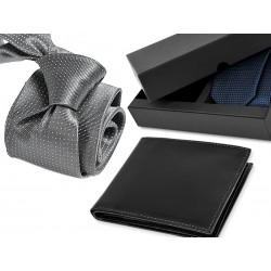 TIE CP051 + LEATHER WALLET