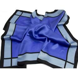 SILK SCARF MILLENA-BLUE